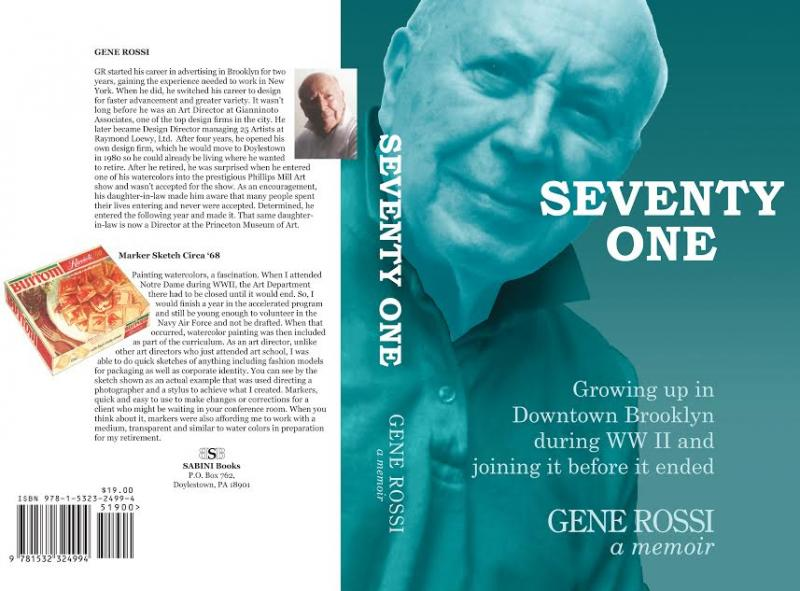 Back and front covers of Seventy One by Gene Rossi