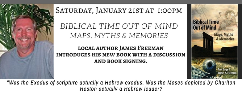 http://www.doylestownbookshop.com/event/james-freeman-biblical-time-out-mind-myths-maps-and-memories