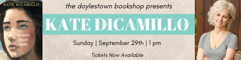 Kate DiCamillo event banner