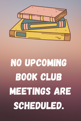 no upcoming book clubs