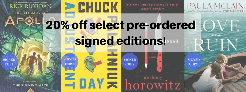 20% off select pre-ordered signed editions