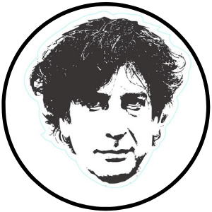 neil gaiman pin