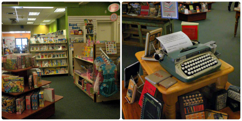Children's room and writing books display at the Doylestown Bookshop